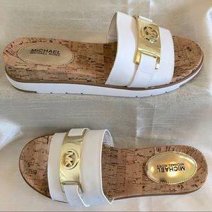 New Michael Kors Cork Slide Sandals